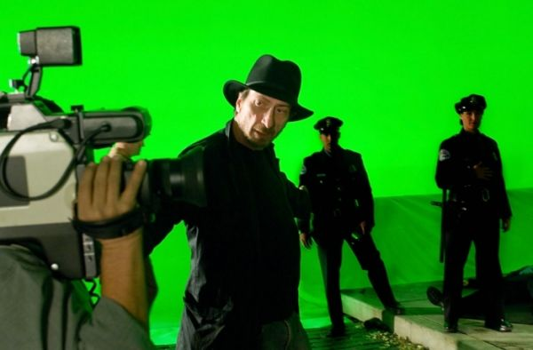 Regisseur Frank Miller am Set